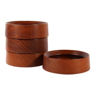 Dansk Designs Jens Quistgaard Ihq Danish Teak Mid-Century Salad Bowl - Set of Four For Sale