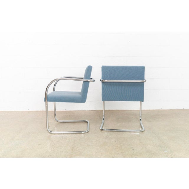 Chrome Mies Van Der Rohe Brno Chairs For Sale - Image 7 of 11