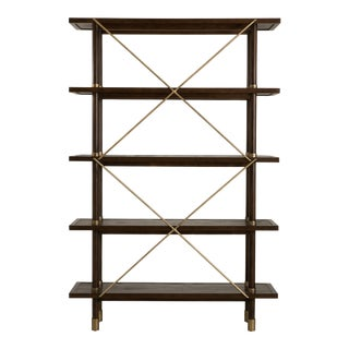 Century Furniture Biscayne Etagere, Mink Grey Finish For Sale