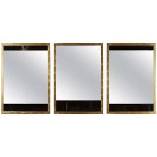 Customizable Paul Marra Black and Clear Glass Mirrors For Sale