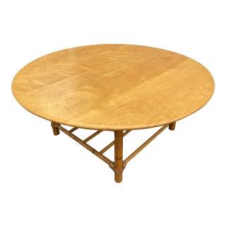 1950s Heywood Wakefield Rattan Coffee Table For Sale