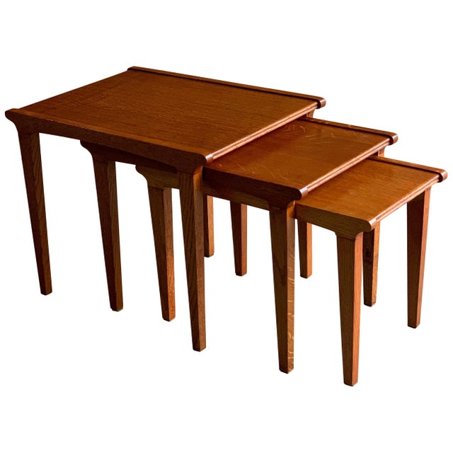Midcentury Gordon Russell Nest of Tables Set of Three Oak, 1950s - Set of 3 For Sale - Image 13 of 13