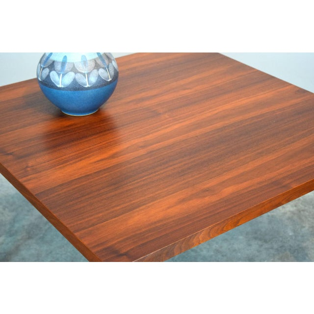 Contemporary Mid-Century Walnut Coffee or End Table For Sale - Image 3 of 8