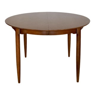 1950s Mid-Century Modern Walnut Dining Table For Sale