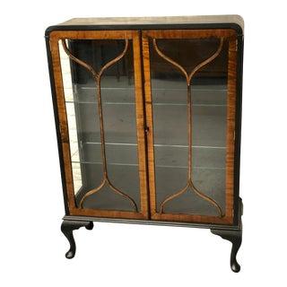 Antique English Curio Cabinet For Sale