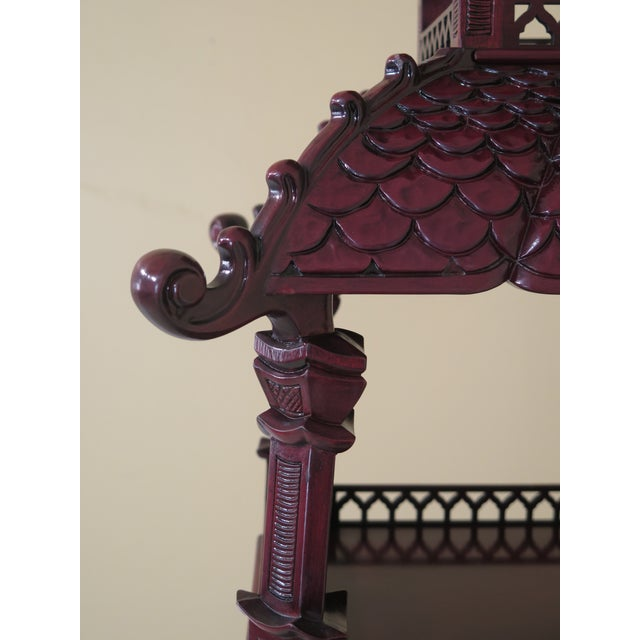 Asian Kindel Mahogany Pagoda Vitrine For Sale - Image 3 of 13