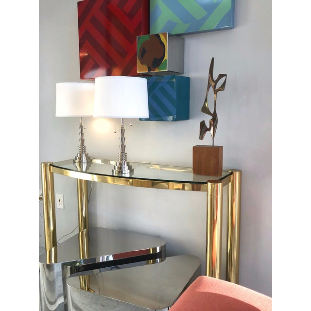 Modern Modernist Bronze Abstract Sculpture by Bolte For Sale - Image 3 of 11