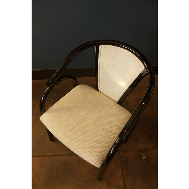 Chinoiserie Black Lacquer Armchair - Image 6 of 6