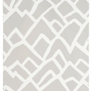 Sample - Schumacher Zimba Wallpaper in Fog For Sale