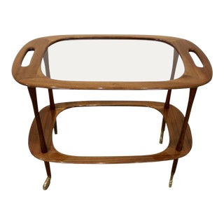 Walnut Bar Cart by Cesare Lacca for Cassina