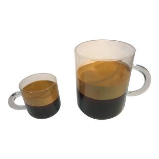 Amazing Pop Art Gigantic Lucite Espresso Cups For Sale