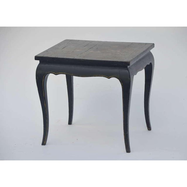 Small asian lacquer side table.
