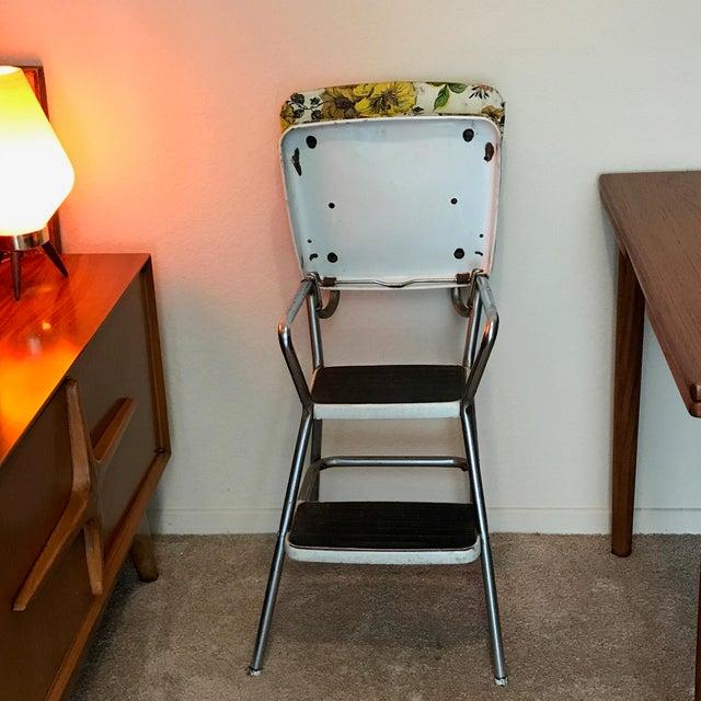 Vintage Mid Century Modern Cosco Step Stool Kitchen Chair