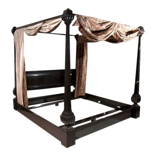 Maison Jansen Ebonized Canopy Bed