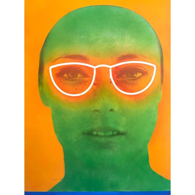 """Martial Raysee Moderna Museet Stockholm Lithograph Print Pop Art Poster """" France Verte """" 1964 For Sale In Kansas City - Image 6 of 13"""