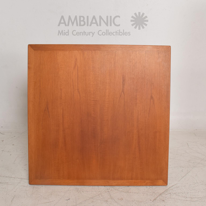1960s Hans Wegner Teak Oak Coffee Table Mid Century Danish Modern For Sale    Image 5