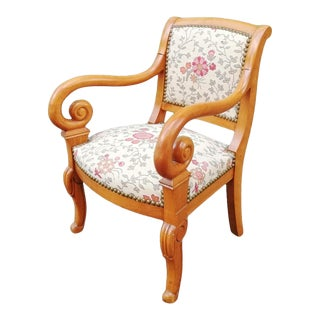 Vintage French Children's Armchair For Sale