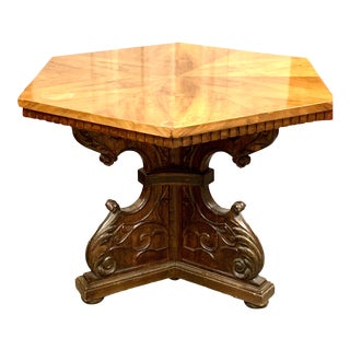19th Century Italian Renaissance Revival Octaganol Occasional/Foyer Table For Sale