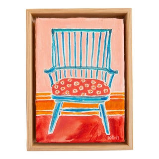 Kate Lewis Blue Chair Original Painting For Sale