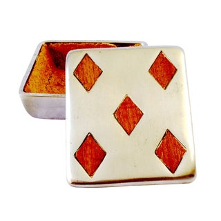 "Vintage Ben Seibel Silver ""Five of Diamonds"" Box For Sale"