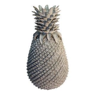 Ceramic White Pineapple Vase For Sale