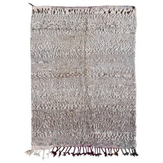 20th Century Moroccan Brown Wool Azilal Rug For Sale
