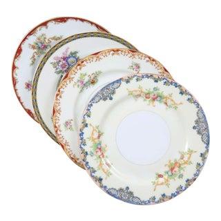 Vintage Mismatched Fine China Dessert Plates - Set of 4 For Sale
