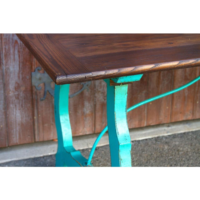 Rustic Vibrant Spanish Colonial Dining Table For Sale - Image 3 of 8
