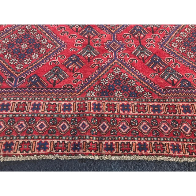 "Vintage Persian Yalameh Area Rug - 7'8"" x 9'7"" - Image 8 of 11"