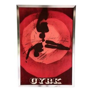"1965 Original Polish Circus"" Cyrk"" Poster by Artist Wiktor Gorka For Sale"