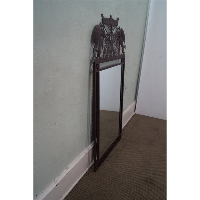 Medieval Gothic Custom Iron Frame Wall Mirror - Image 3 of 10