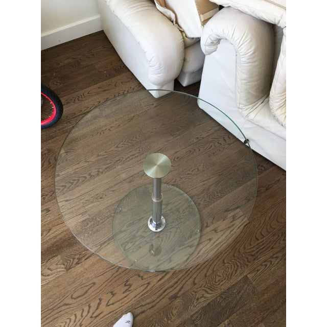 Draenert 1010 Largo Glass Coffee/Bistro Table - Image 4 of 4