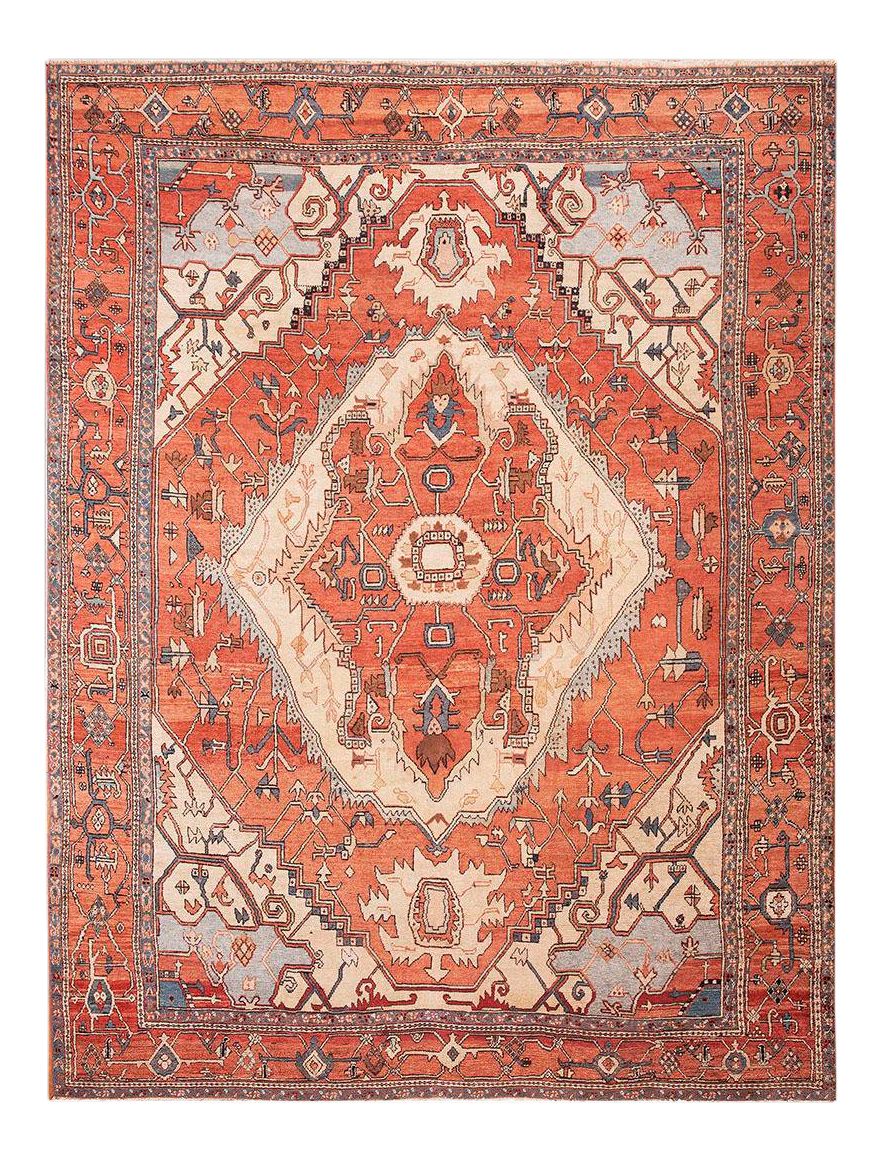 Early 19th Century Antique Serapi Rug 10 13 3 Chairish