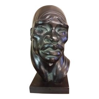 1945 Figurative Fred Press Male Head Sculpture For Sale