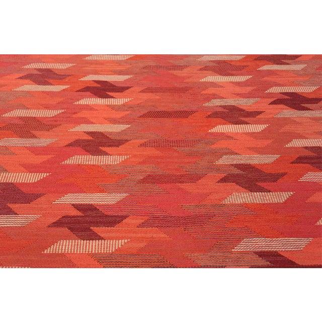 Vintage Marta Maas Scandinavian Geometric Rug by Barbro Nilsson - 6′3″ × 8′2″ For Sale In New York - Image 6 of 11