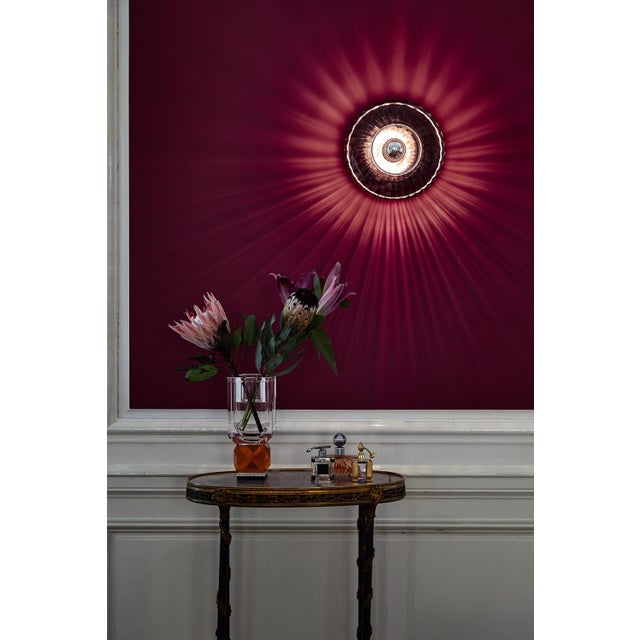 New Wave Optic Wall Lamp - Rose For Sale In New York - Image 6 of 7