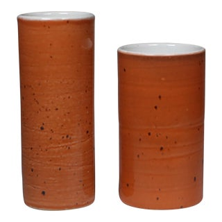 Glazed Ceramic Vases by Jonn Coolidge - A Pair