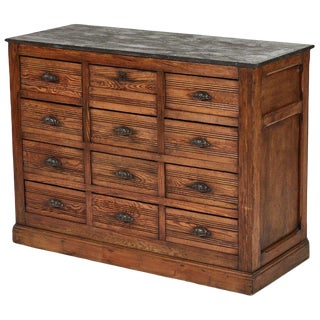 Stone Top Sideboard Chest of Drawers For Sale