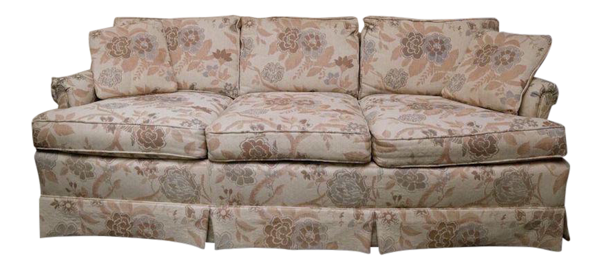 1980s Lexington Furniture Floral Patterned Upholstered Sofa