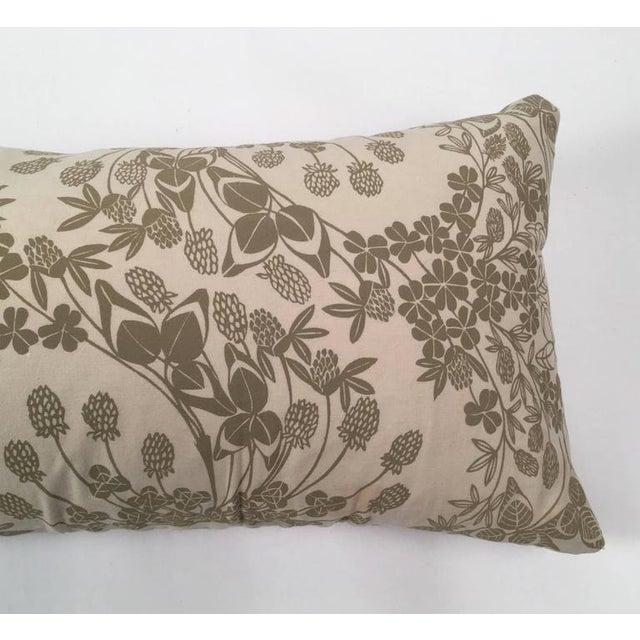Original Folly Cove Designers Hand Block Printed Clover Pillow - Image 5 of 9
