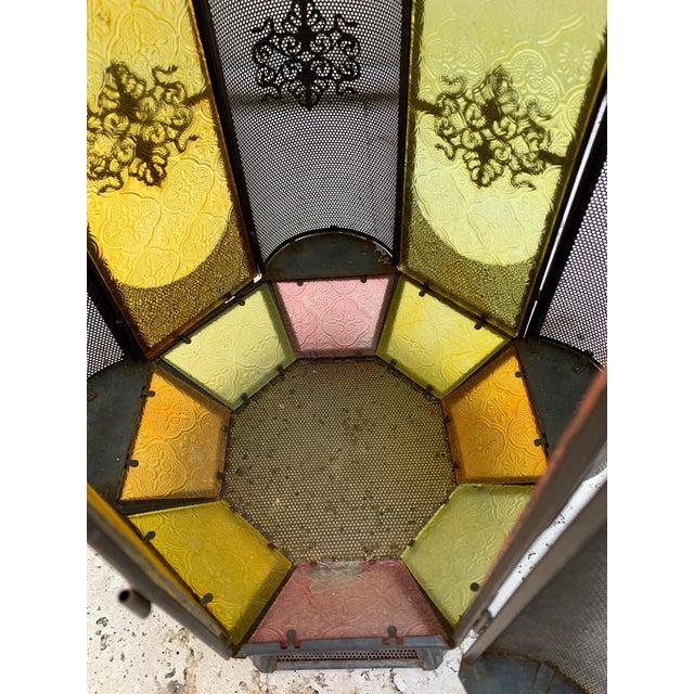 Metal Vintage Moroccan Lantern Candle Holder For Sale - Image 7 of 12