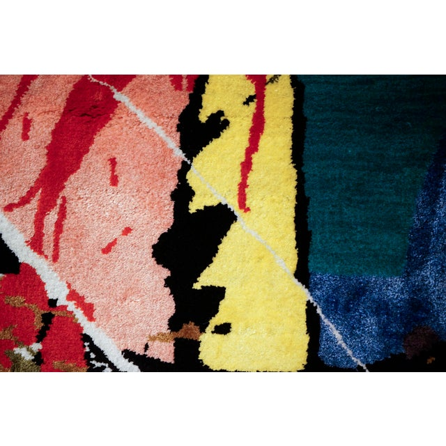 """2010s Boccara Limited Edition Hand Knotted Artistic Rug, """"Street Art"""" For Sale - Image 5 of 7"""