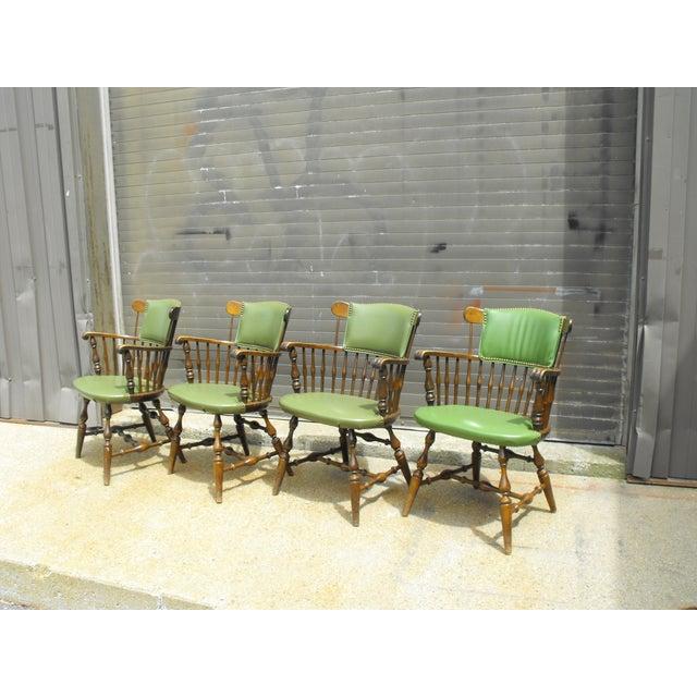 Nichols & Stone Arm Chairs - Set of 4 - Image 6 of 8