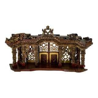 Antique Architectural Sculpture of Chinese Temple For Sale