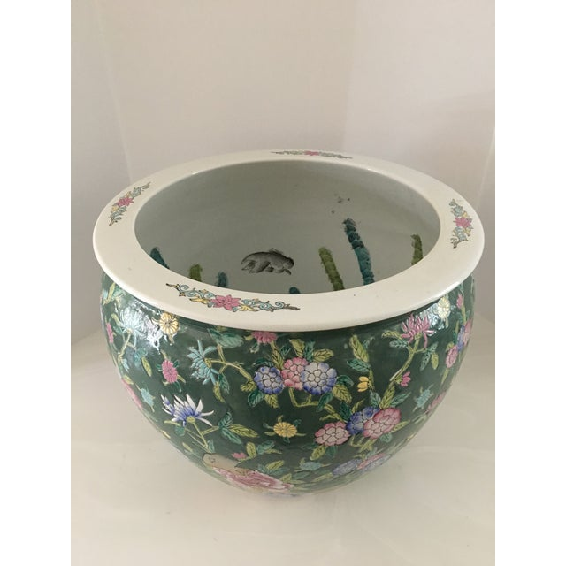 Chinese Late 20th Century Chinese Fish Bowl Planter For Sale - Image 3 of 13