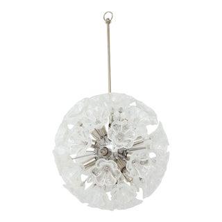 1960s Italian Floral Sputnik Chandelier For Sale