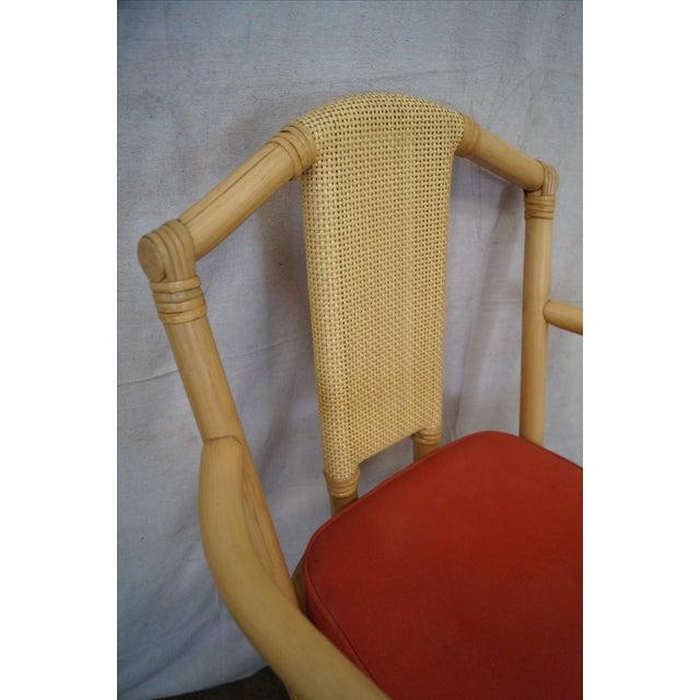 Vintage Bent Bamboo & Rattan Swivel Bar Stools -- Set of 3 - Image 6 of 10