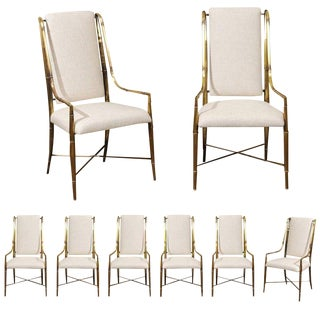Magnificent Set of Eight Dining Chairs by Weiman/Warren Lloyd for Mastercraft For Sale