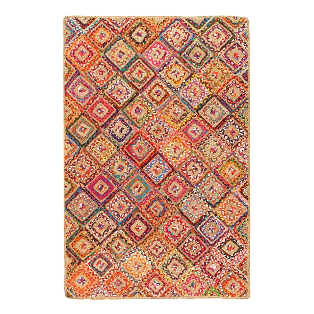 Pasargad Handmade Braided Cotton & Organic Jute Rug - 4' X 6' For Sale