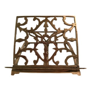 Ornate Brass Folding Bookstand